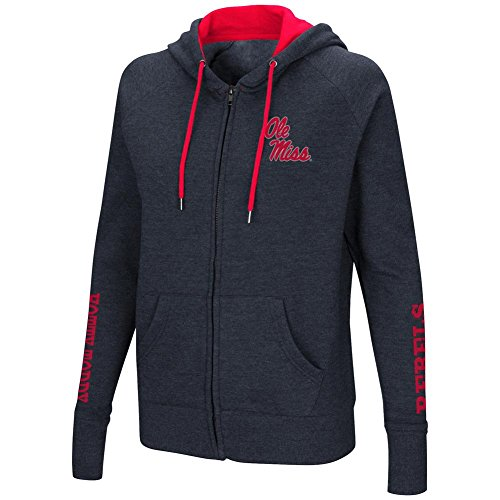 Colosseum Ole Miss Rebels Women's Full Zip Hoodie Sweatshirt (Large)