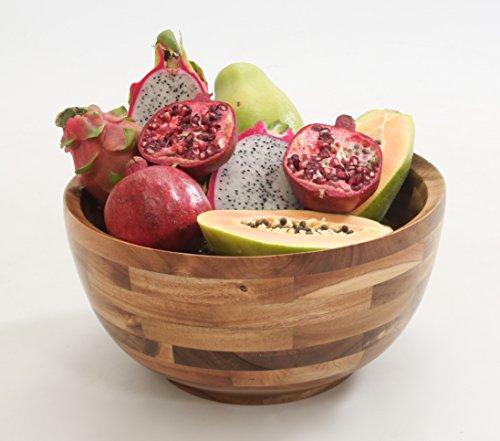 Natural Hardwood Salad Bowl - 2