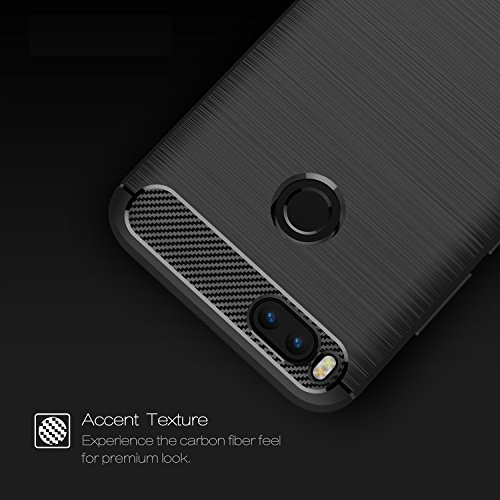 Xiaomi Mi A1 case,with Xiaomi Mi A1 screen protector. MYLB (2 in 1)[Scratch Resistant Anti-fall] fashion Soft TPU Shockproof Case with Xiaomi Mi A1 glass screen protector (Black) by MYLB (Image #4)