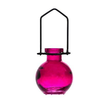 Amazon.com: Romantic Decor and More Fuchsia Mini Vase~G269VM ...