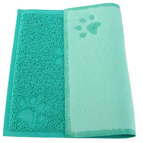 Krastal Pet Dog Placemat Puppy Cat Feeding Mat Pad Cute Paw PVC Bed Dish Bowl Food Water Feed Supplies ()