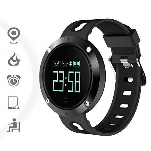 TKSTAR-Sports Fitness Tracker Touch Screen Watch Waterproof 25 Days Standby Alarm Bluetooth Heart Rate Monitor Call Reminder Smart Watch (JU-DM58, Black) (Best Rom For Nexus One)
