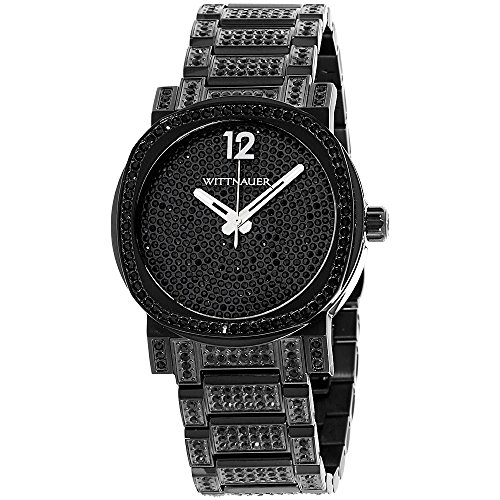 (Wittnauer Adien Black Dial Stainless Steel Men's Watch WN3008 )