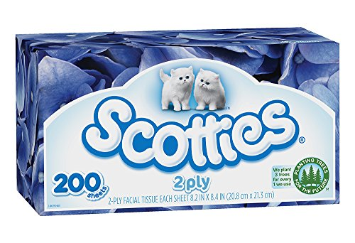 Scotties 2-Ply Facial Tissue, 200 Count (Pack of 24) by Scotties