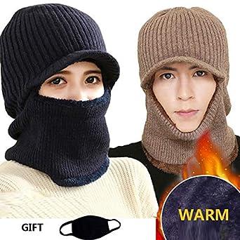 31d37d12251 World 2 home Skull mask Balaclava face mask Winter Hats for Women Men  Knitted Cap Neck Warmer Caps Winter Hats for Men Women Beanie Fur Warm   Amazon.in  ...