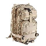 DWEFVS Hiking Camping Bag Army Military Trekking Rucksack Backpack Camo Storage Bag desert camo 30-40L