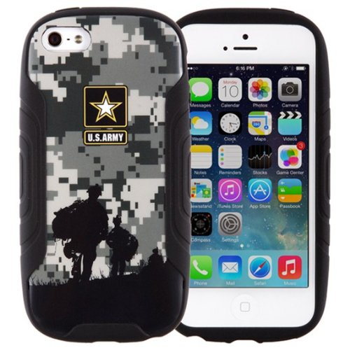 U.S. Army Hybrid Shell Case for iPhone 5/5s - Halo - Retail Packaging - Black