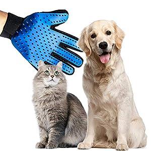 LPVLUX Deshedding Gloves 1 Pair - Dog Grooming Glove - Cat Glove Brush - Pet Grooming Glove - Dog & Cat Brush - Pet Hair Remover - Pet Hair Removal - Dog Grooming - Grooming Glove - Cat Hair Remover
