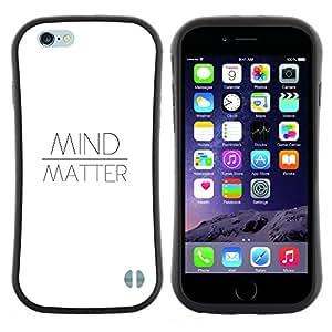 """Hypernova Slim Fit Dual Barniz Protector Caso Case Funda Para Apple (5.5 inches!!!) iPhone 6 Plus / 6S Plus ( 5.5 ) [Sobre materia Cita el texto blanco motivación""""]"""