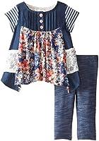 Bonnie Baby Baby-Girls Newborn Chambray Mix Legging Set