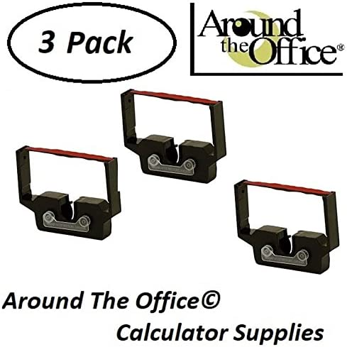 Around The Office CRS Model 820 Compatible Calculator RC-601 Black /& Red Ribbon Cartridge