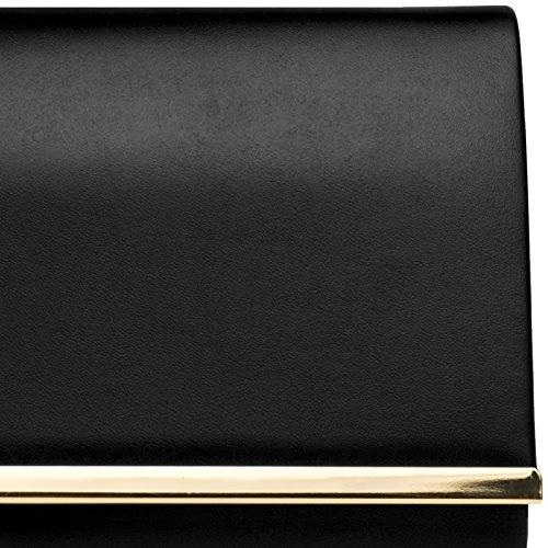 Noir élegante CASPAR soirée pour de forme femme enveloppe Pochette TA415 7wYqAx6z