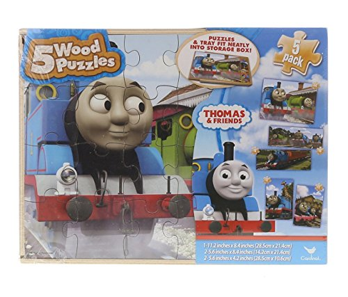 (Cardinal Thomas & Friends 5 Wood Puzzle Set by Play Visions)