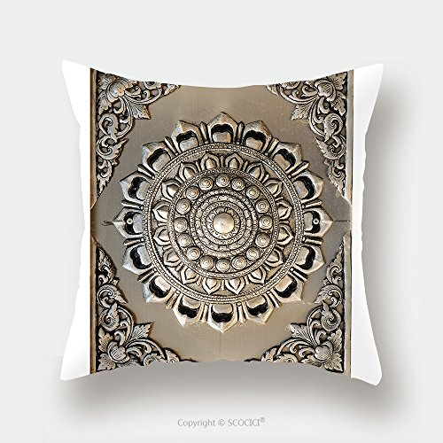 Custom Satin Pillowcase Protector Decorative Art Of Lanna Thai Engraving Of The Silver Value 98181833 Pillow Case Covers Decorative by chaoran