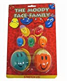 Henbrandt 7 Kids Childrens Moody Face Family Stretchy Squashy Stress Balls Party Bag Toys