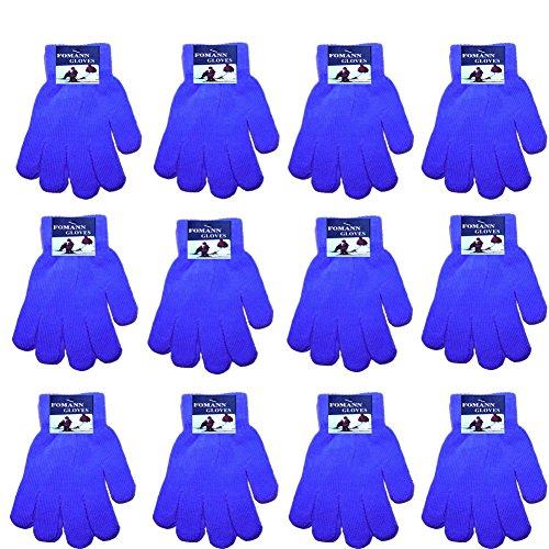 Magic Gloves Childrens (Children Warm Magic Gloves Toddler Winter Gloves Baby Girls Knit Gloves(2 to 6 years old) (Blue))