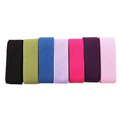 Redriver Yoga Stretch Strap Belt Gym Waist Leg Training Fitness 183cm Adjustable (Violet)