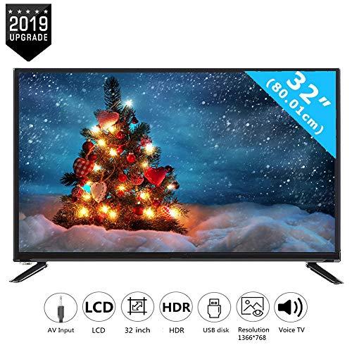 Wendry 32-Zoll-HD-LCD-Smart-TV mit HDMI-Kabel-Cinch-Eingang, multifunktionaler 2K-Online-TV mit…