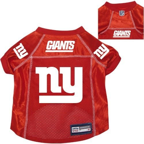 New York Giants Pet Dog Football Jersey Alt. Red MEDIUM