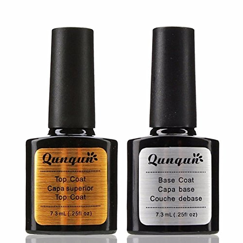 Price comparison product image Owill 2Pcs Top Coat + Base Coat UV Gel Nail Polish Primer Nail Art (One Size, Clear)