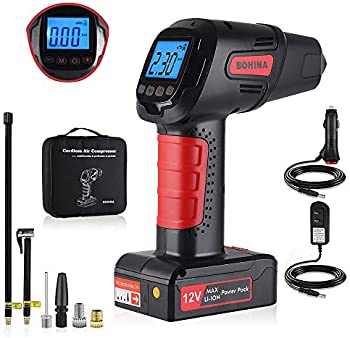 Bohina Portable Air Compressor Pump Cordless Rechargeable Tire Inflator