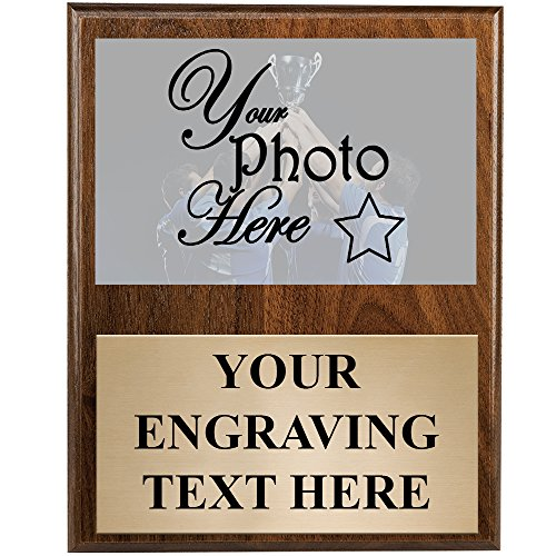 9 x 12 Vertical Photo Plaque - Custom Team Picture Plaque Awards Prime