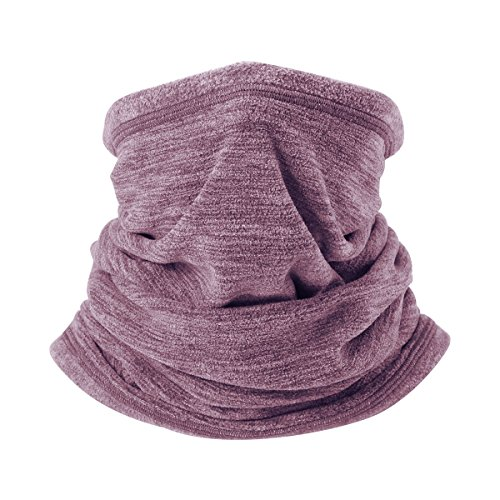 Runtlly 4-in-1 Neck Warmer/Face Mask/Hat Snood/Scarf Black Thermal Ski Snowboard Cycling Sports Genuine Chocolate