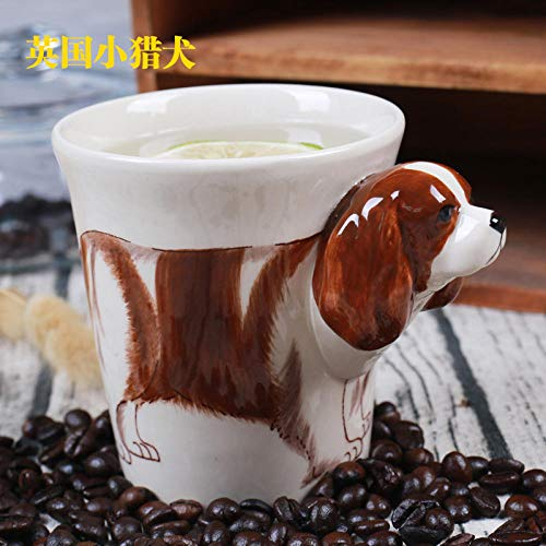 - Hand-Painted 3D Animal Mug Ceramic Coffee Cup Birthday Gift Cup 300Ml - British Terrier