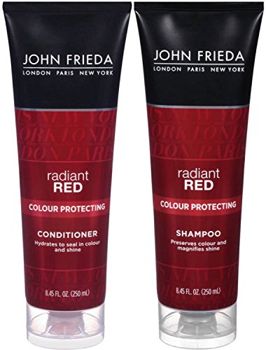 John Frieda Radiant Red Colour Protecting, DUO set Shampoo + Conditioner, 8.45 (Conditioner Protecting Colour)