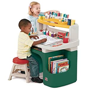 Step2 Art Master Activity Desk For Toddlers   Kids Learning Crafts Table  With Chair And Storage   Multicolor