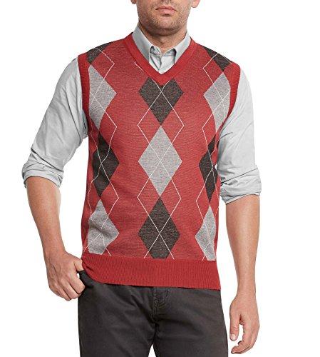 Red Argyle Sweater Vest - 2