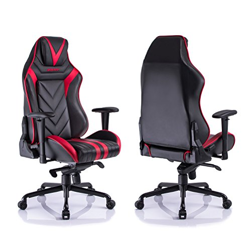 aminiture video game chair big and tall high back recliner chair pu leather computer chair. Black Bedroom Furniture Sets. Home Design Ideas