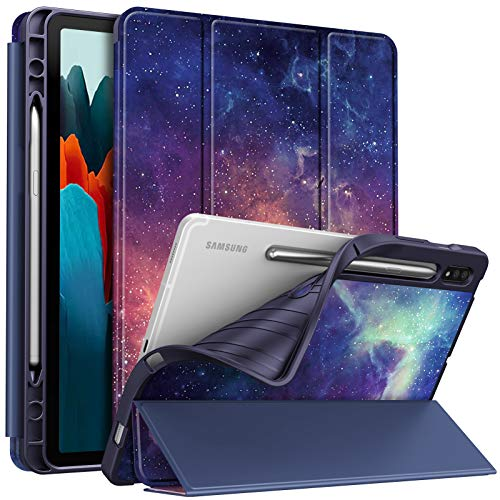 Fintie Slim Case for Samsung Galaxy Tab S7 11'' 2020 (Model SM-T870/T875/T878) with Built-in S Pen Holder, Soft TPU Smart Stand Back Cover Auto Wake/Sleep Feature, Galaxy