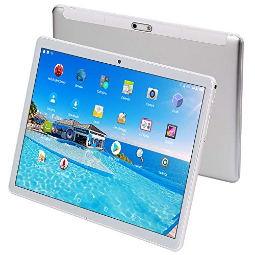 """HONGTAO 10 Inch (10.1"""") Tablet,Octa Core,4GB RAM,64GB ROM,1920X1200 HD IPS,WiFi,GPS,5+12MP Camera,Android 7.0 Nougat,3G 4G LTE Dual SIM-Silver"""