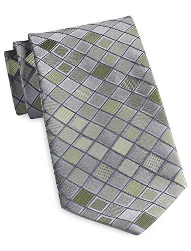 Geoffrey Beene Grid Print Tie