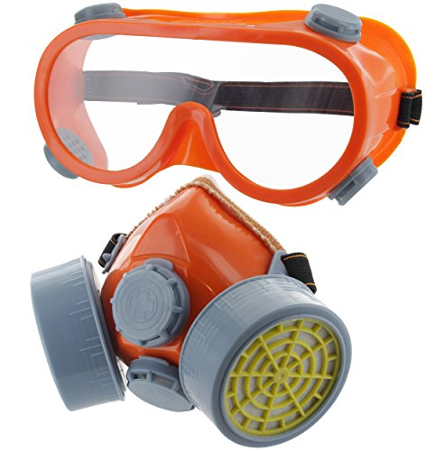 Ram-Pro Twin Cartridge Respirator with Safety Goggles - Full Face Respirator Gas Mask Professional Organic Vapor Reusable Respirator Widely Used in Paint, Dust, Chemical by Ram-Pro (Image #3)