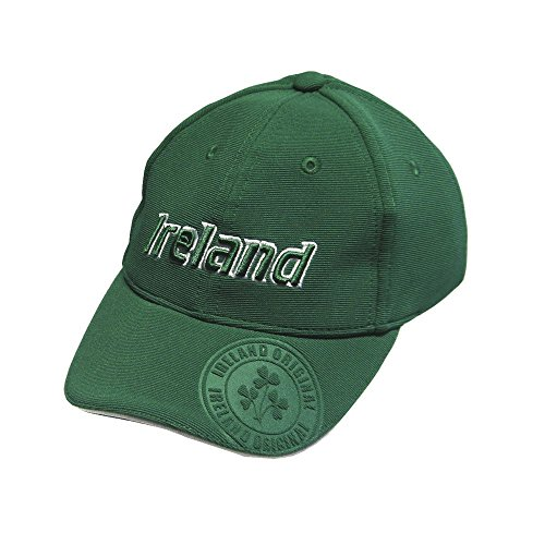 Baseball Cap For Kids With Ireland Emblem Badge, Green Colour