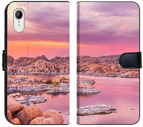 (Apple iPhone XR Flip Fabric Wallet Case Image ID: 30862108 Sunset at Watson Lake Prescott Arizona)
