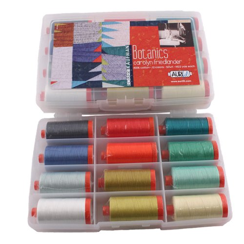 Aurifil Large Thread Set CAROLYN FRIENDLANDER BOTANICS 50wt Cotton 12 Large (1422 yard) Spools by Aurifil