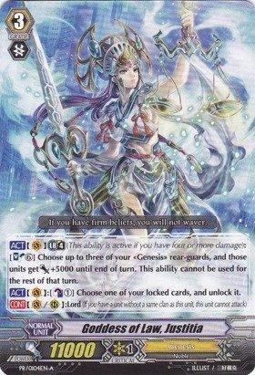 Cardfight   Vanguard TCG - Goddess of Law, Law, Law, Justitia (PR 0104EN-A) - Cardfight  Vanguard Promos by Cardfight   Vanguard TCG 776508