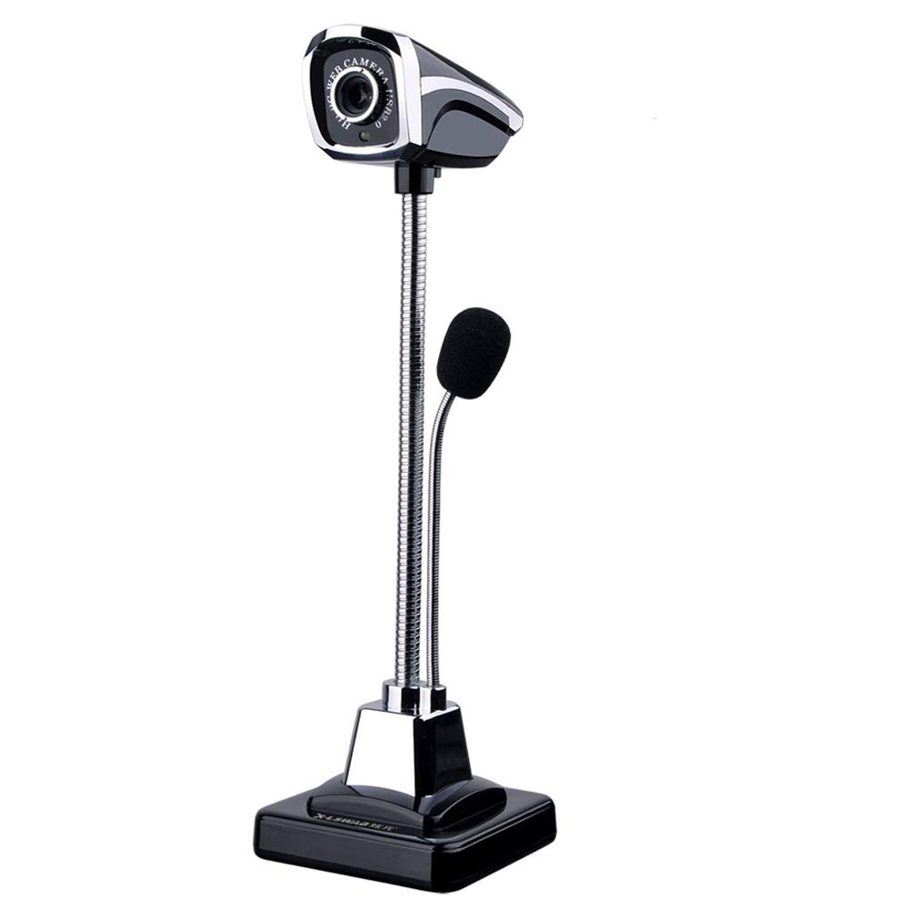 YOMYM Mini Cá mara HD Webcam PC con Voice Micró fono, M800 2.0 USB Ajustable HD LED Visió n Nocturna Webcam Cá mara para Portá til Ordenador, Notebook y Smart TV