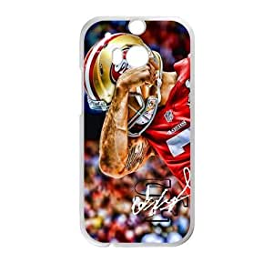 One Hand Protection Guard Powerful Athletes San Francisco 49ers Htc One M8 Case Shell Cover (Laser Technology)