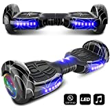 CHO Spider Wheels Series Hoverboard UL2272 Certified Hover Board with 6.5 inch Wheels Electric Scooter Smart Self Balancing Wheels (Black)