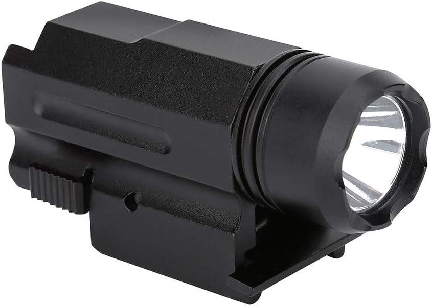 Linterna de riel- Linterna táctica, Táctica LED verde 3 modos Linterna de caza Antorcha para 20mm Picatinny Weaver Mount Rail