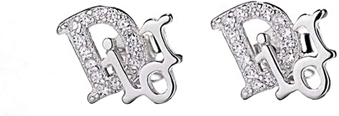 t.w Simulated Diamond Cluster Stud Earrings In 14K White Gold Over 0.10 ct
