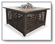 Blue Rhino GAD860SP LP Gas Outdoor Fire Pit with Slate/Marble Mantel