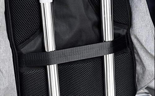 De Oxford De Mochila UPS Antirrobo Black Computadora Paño Paquete Paquete Informal De Carga Bolso Hombro De R1BOR