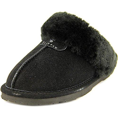 Bearpaw New Women's Loki Slipper Black II 8 (Bearpaw Womens Slippers)