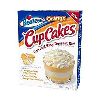 Hostess Orange Cupcakes Dessert Kit, 7.47 OZ, 6 CT (Orange CupCakes, Pack - 1)