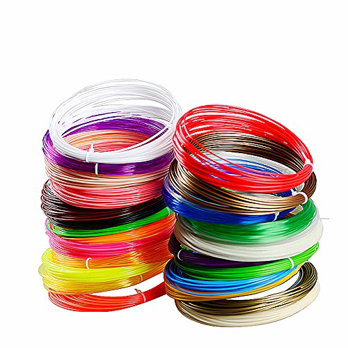 Cielo Meravigioso 20 Packs 3D Printing Filament Refills- 20 Different Colors 1.75mm PLA- 328 Linear Feet Total of 20 Different Colors in 16.4 Foot Lengths